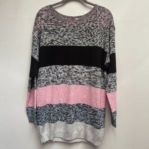 H&M Divided Tunic Sweater Size Small Pink Black